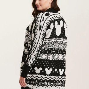 e0191c96870 torrid Sweaters - Disney Mickey Mouse Fair Isle Cocoon Cardigan NWT